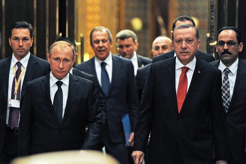 Президент России Владимир Путин и его турецкий коллега Реджеп Тайип Эрдоган