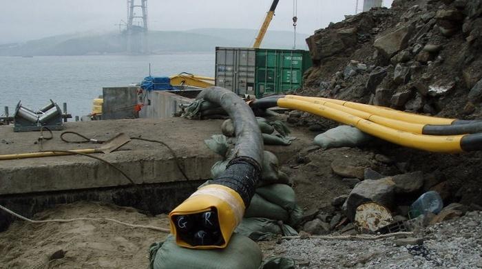Прокладка кабеля для подводной ЛЭП в Крым от Краснодарского края