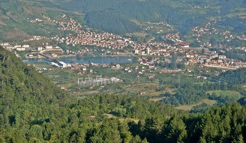 Город Крушевац в Центральной Сербии