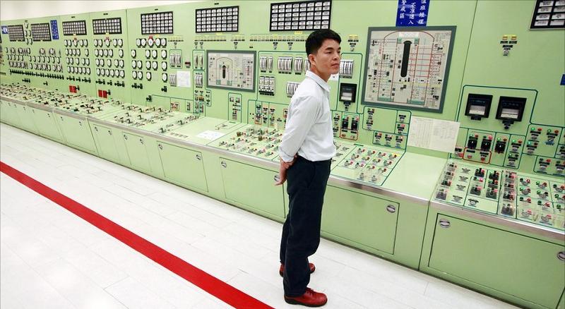 Щит управления на Второй атомной электростанции Тайваня