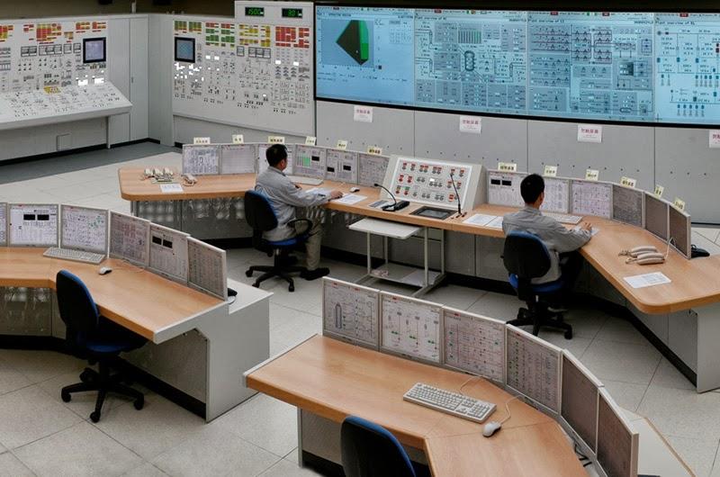 Щит управления первого энергоблока китайской АЭС Changjiang