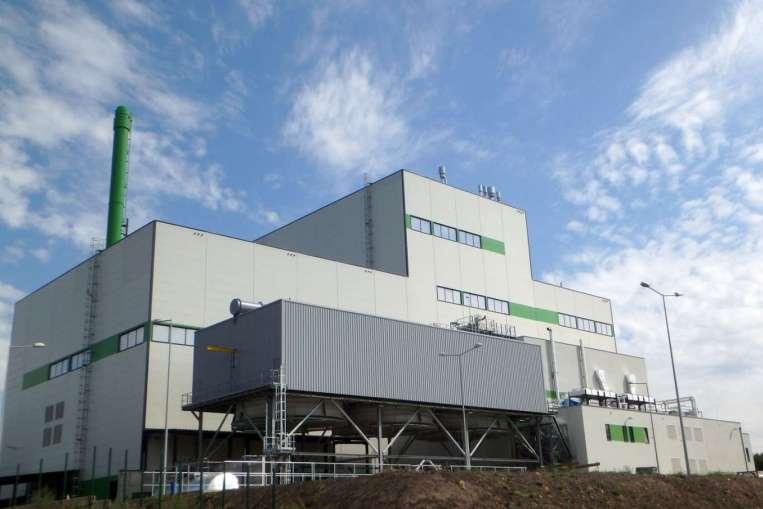 ТЭЦ в польском городе Белосток, которая сжигает различные бытовые и промышленные отходы