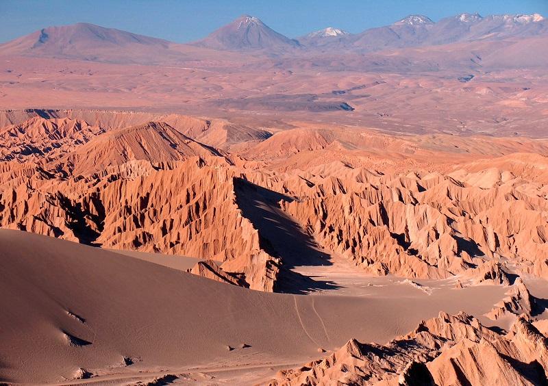 Одна из самых сухих пустынь в мире - Атакама, Чили