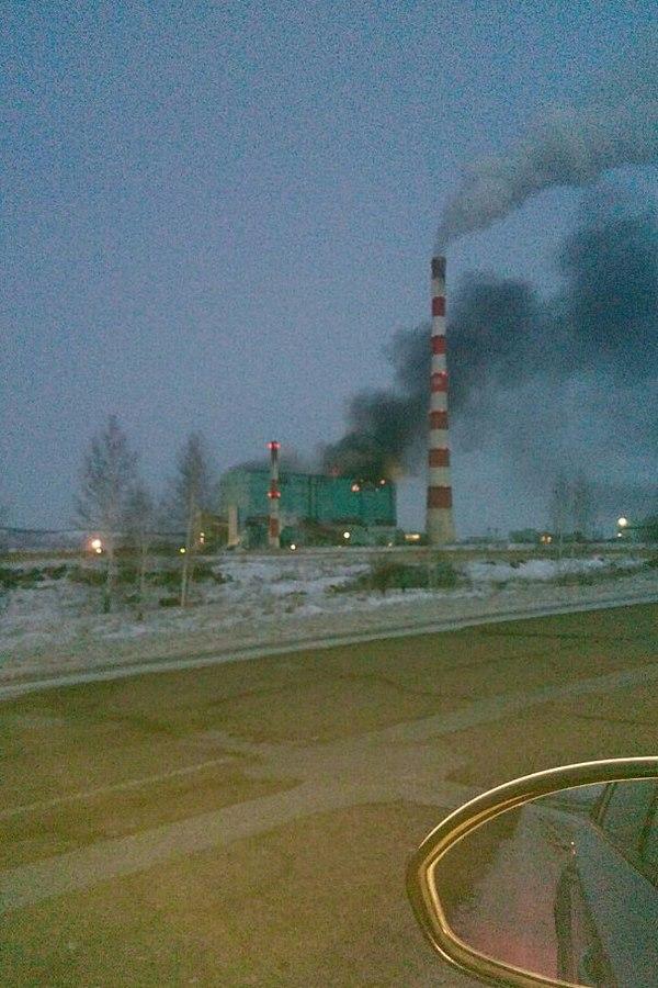 Пожар на Березовской ГРЭС