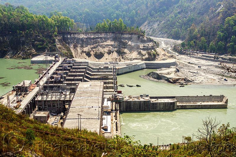 Строительство индийской ГЭС Teesta Low Dam в штате Западная Бенгалия
