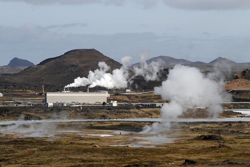 Геотермальная электростанция Reykjanes в Исландии