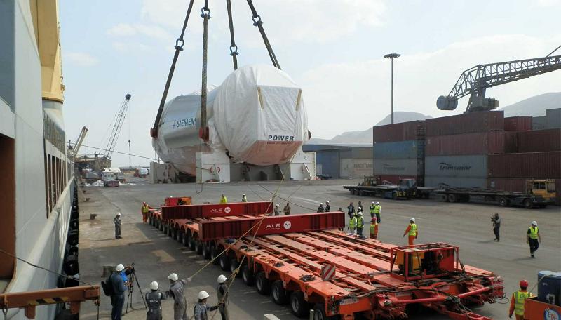 Доставка газовых турбин на ТЭС Beni Suef в Египте