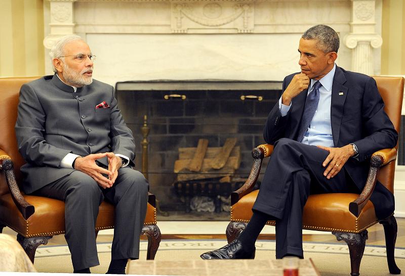 Премьер-министр Индии Нарендра Моди и президент США Барак Обама